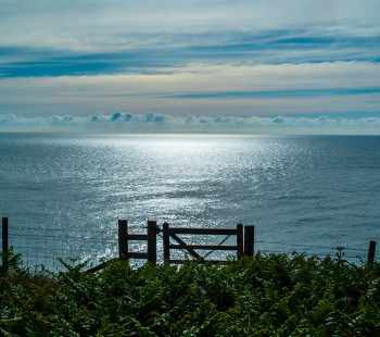 Berry Head sunrise with gate
