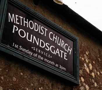 Dartmoor Poundsgate Methodist Church sign